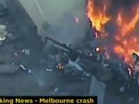 Spadł samolot na supermarket w Melbourne
