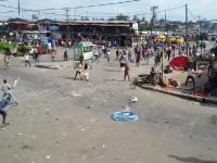 Bitwa na afrykańskim targu, Nigeria, XXI wiek