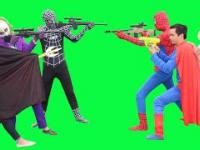 Spiderman Frozen Elsa Alive Vs Joker Venom! SuperHeroes Babies in Real Life - Kids BNG