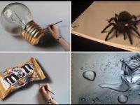Niesamowicie Realistyczne Rysunki 3D Wykonane Ołówkiem - Kompilacja 2017