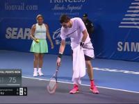 Ćma przerwała mecz. Tenisista nie dał jej rady.