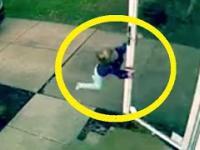 Małą dziewczynka porwana przez wichurę