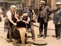 Pokolorowane fotografie z czasów prohibicji