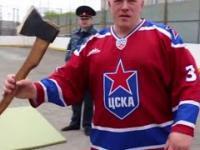 Rosyjskie więzienie, pokazowy trening.