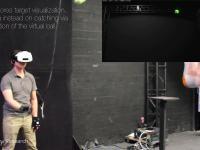 Niesamowita koordynacja w łapaniu realnej piłki w wirtualnej rzeczywistość