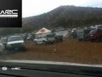 Kierowca WRC wypada z trasy, robi objazd przez parking i mimo to wygrywa odcinek