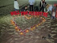 Niezwykle romantyczne zaręczyny na plaży w Los Angeles