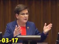 Beata Szydło stylowo zMIAŻDŻYŁA bunt PO i wniosek o odwołanie ministra środowiska! 23-03-17