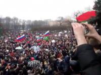 Protest przeciwko korupcji w Sankt-Petersburgu