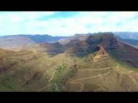 Wąwóz Barranco de Fataga widok z Drona