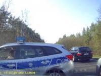 Kolizja z Policją podczas wyprzedzania