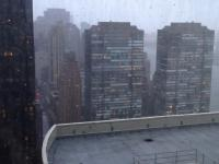 Huragan Sandy widziany z 30 piętra wieżowca