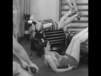 Kobiety na silowni w 1940 roku