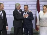 Pijany donald tusk oraz nawalony jak stodoła Jean Claud Juncker