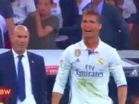 Złość Cristiano Ronaldo po golu Messiego
