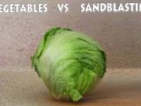 Vegetables 2 vs Sandblasting - Experiment NEW - 4K - Life Hack