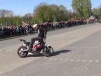 Pokaz akrobacji motocyklowej Wolsztyn 2017