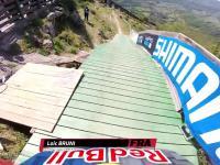 Ekstremalnie szybki zjazd rowerem górskim