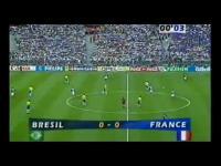 Francja - Brazylia 3:0. Skrót finału MŚ w piłce nożnej - Francja 98