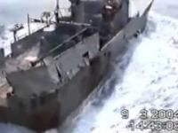 Tak sie marynarka rosyjska rozprawia z nielegalna lodzia rybacka.