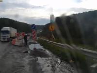 W ciężarówce zawodzą hamulce na wiadukcie