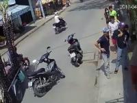Uliczna sprawiedliwość dla pewnego złodzieja w Wietnamie