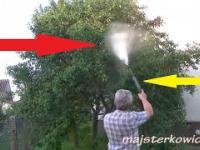 Oprysk drzew myjką ciśnieniową DIY - Spray the trees with a pressure washer