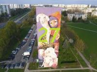Łódź ul.Wyszyńskiego Mural (27)