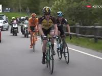 Kiedy przyciśnie dwójeczka a jesteś kolarzem. Zawodowym. I liderem Giro.