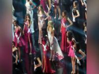 Miss Holandii tańczy w czasie prób czekając na konkurs