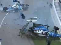Potężny wypadek podczas wyścigu Indianapolis 500