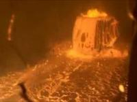Wybuch surówki w piecu indukcyjnym w hucie