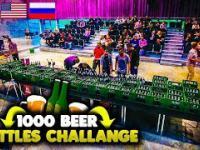 Otworzyli tysiąc butelek piwa żeby wygrać na loterii
