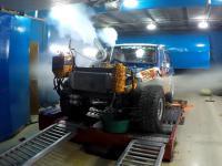 Wybuch 1500-konnego silnika w Toyocie