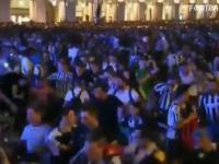 Moment wybuchu paniki na Piazza San Carlo w Turynie