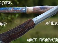 Odrestaurowanie zardzewiałego noża - przed i po