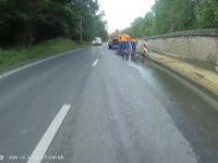 Potrącenie rowerzysty przez motocyklistę
