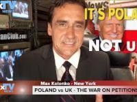POLAND vs UK - wojna na petycje o Trumpa - Max Kolonko Mówię Jak Jest