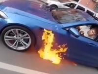 Twoje BMW M5 płonie. Co robisz?