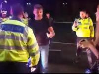 Rumuński policjant nokautuje pijanego typa