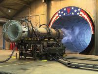 Test silnika odrzutowego w F-16
