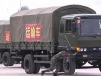 Zawracanie konwoju wojskowego w miejscu