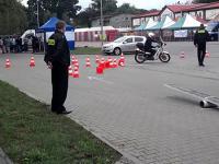 Polski policjant na motocyklu