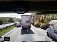 Polska ciężarówka blokuje