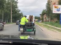 Zwyczajny dzień na rosyjskiej ulicy