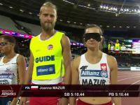 Niesamowity finisz niewidomej Joanny Mazur po złoto