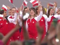 Reprezentanci Polski na ceremonii otwarcia
