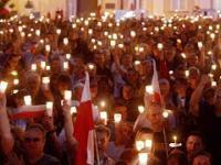 Wiec i protest w Warszawie przed Palacem Prezydenckim [2017-07-23]