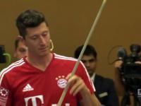 Lewandowski zaskoczył wszystkich niezwykłym trickiem bilardowym