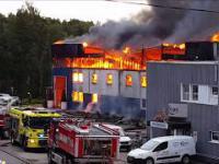 Wielki pożar magazynu w Norwegii